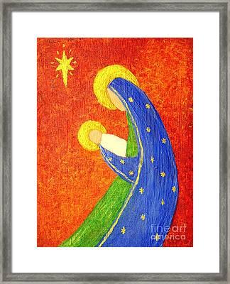 Nativity Framed Print by Pattie Calfy