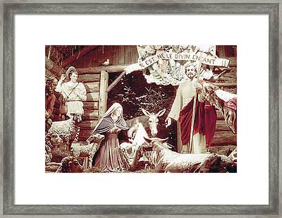 Nativity Scene In Montreal Framed Print
