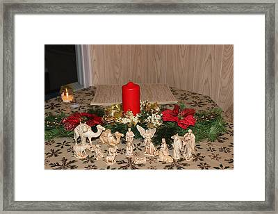 Framed Print featuring the photograph Nativity Scene by John Mathews