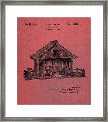 Nativity Scene Patent Framed Print by Dan Sproul