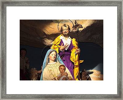 Christmas Nativity Scene Framed Print