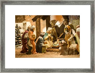 Framed Print featuring the photograph Nativity Set by Alex Grichenko