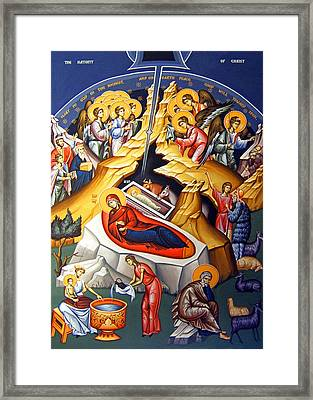 Nativity Story Framed Print by Munir Alawi