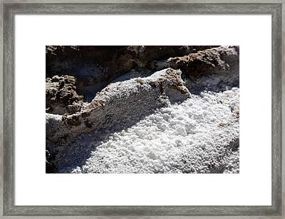 Natron Deposits Framed Print