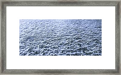 Natural Abstracts - Icy Surface Framed Print