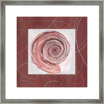 Natural Allure- Marsala Pantone 18-1438 Framed Print by Lourry Legarde