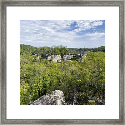 Natural Arch - D005231 Framed Print by Daniel Dempster