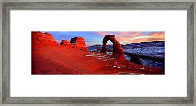 Natural Arch In A Desert, Delicate Framed Print by Panoramic Images