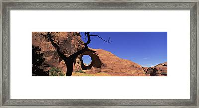 Natural Arch In A Desert, Monument Framed Print by Panoramic Images