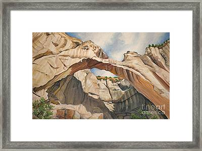 Natural Arch Framed Print