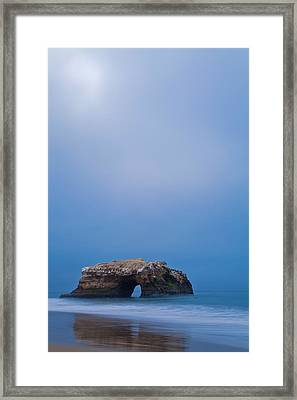 Natural Bridge And Its Reflection Framed Print