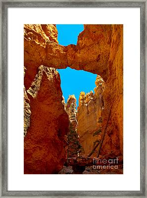 Natural Bridge Bryce Framed Print by Robert Bales
