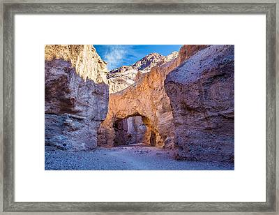 Natural Bridge In Death Valley National Park Framed Print by Pierre Leclerc Photography