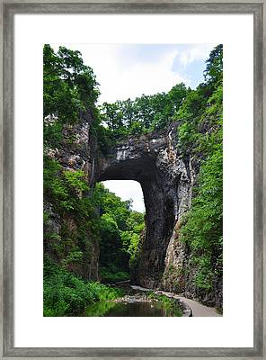 Natural Bridge In Rockbridge County Virginia Framed Print by Bill Cannon