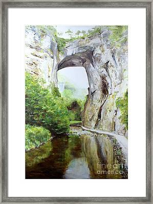 Natural Bridge Framed Print by J Luis Lozano