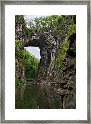 Natural Bridge Framed Print by Lawrence Boothby