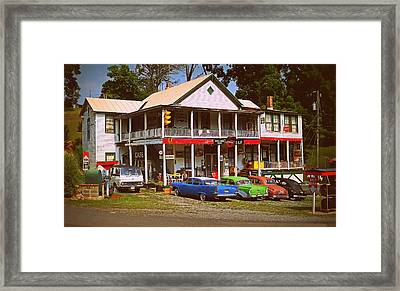 Natural Bridge Station Framed Print by Victor Montgomery