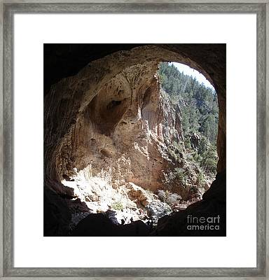 Natural Bridge View Framed Print by Kerri Mortenson