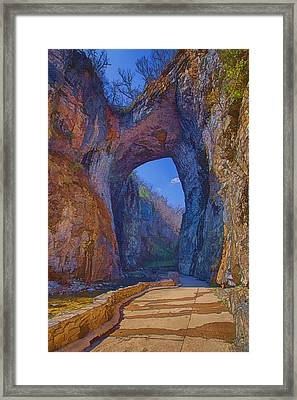 Natural Bridge Virginia Framed Print