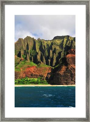 Natural Cathedrals Of Napali Coast Framed Print