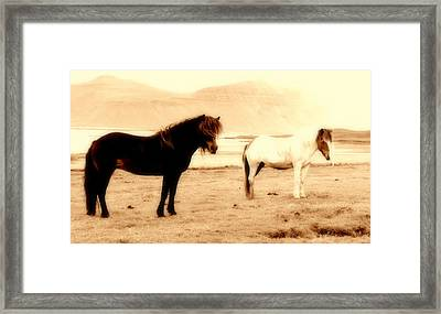 Imagine The Most Natural Couple Framed Print