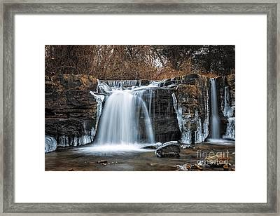 Natural Dam Winter Framed Print