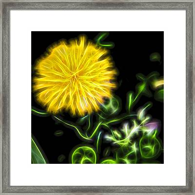 Natural Electric Beauty Framed Print