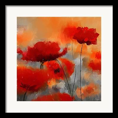 Poppies Art Gift Framed Prints
