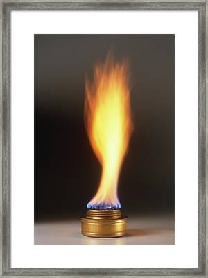 Natural Gas Burner Framed Print