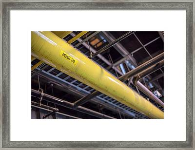 Natural Gas Pipe In A Power Station Framed Print