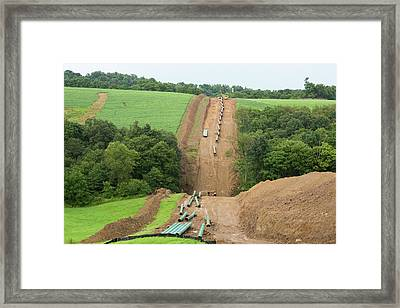 Natural Gas Pipeline Construction Framed Print