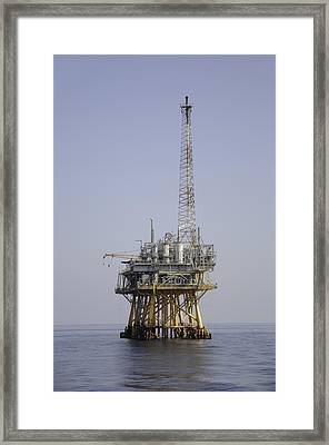 Framed Print featuring the photograph Natural Gas Platform by Bradford Martin