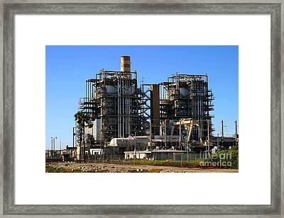 Natural Gas Power Plant Framed Print by Henrik Lehnerer