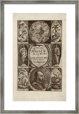 'natural Magick' (1658) Framed Print by Library Of Congress