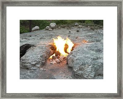 Natural Methane Flame Framed Print