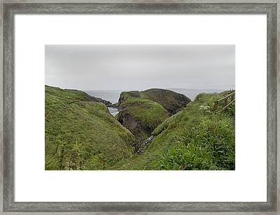 Natural Paradise Carrick-a-rede Northern Ireland Framed Print by Betsy Knapp
