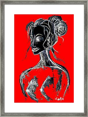 Natural Red Framed Print