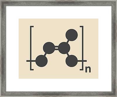 Natural Rubber Polymer Molecule Framed Print