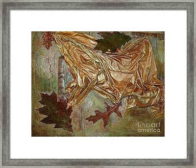 Framed Print featuring the mixed media Natural Rythmes - Green Tones by Delona Seserman