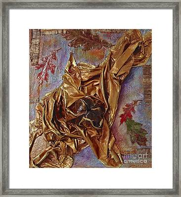 Framed Print featuring the mixed media Natural Rythmes - Mauve Tones by Delona Seserman