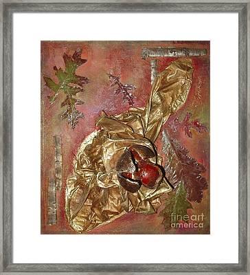 Natural Rythmes - Red Tones  Framed Print by Delona Seserman