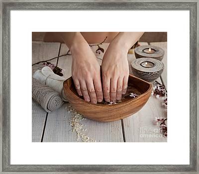 Natural Spa Manicure  Setting Framed Print