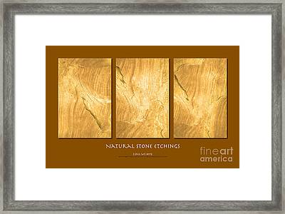 Framed Print featuring the photograph Natural Stone Etchings by Lena Wilhite
