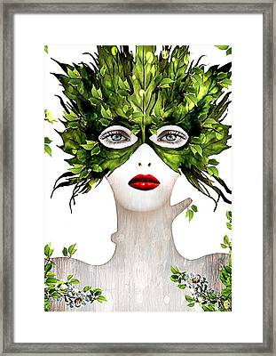 Natural Women Framed Print by Yosi Cupano