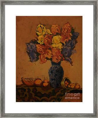Naturaleza Muerta Framed Print by Monica Caballero
