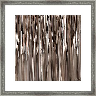 Naturally Brown Framed Print by Lourry Legarde