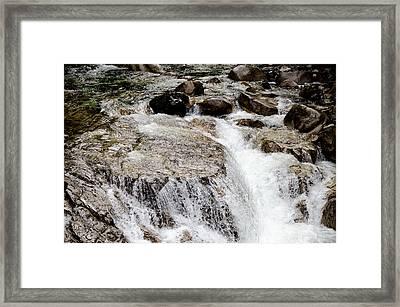 Backroad Waterfall Framed Print