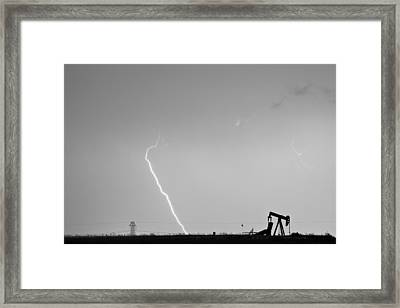 Nature - Power And Oil In Black And White Framed Print