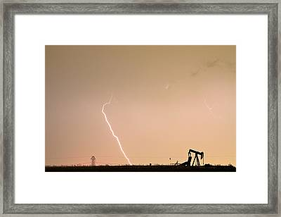 Nature - Power And Oil Framed Print