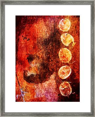 Framed Print featuring the digital art Nature Abstract 3 by Maria Huntley